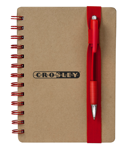 5 in x 7 in Color Band Recycled Notebook