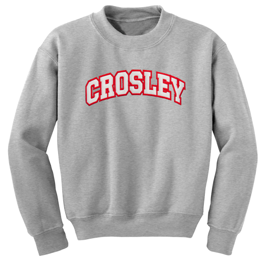 Crosley Collegiate Sweatshirt (Gray)